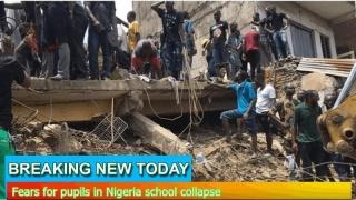 Clădirea unei şcoli din Nigeria s-a prăbuşit. Elevi blocaţi sub ruine