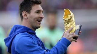 Lionel Messi a câștigat pentru a patra oară Gheata de Aur a Europei