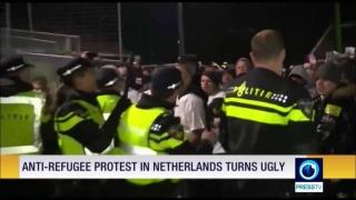Manifestaţie violentă împotriva refugiaţilor, în Olanda