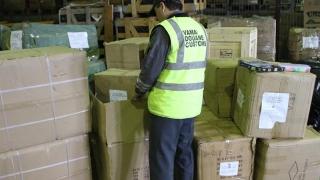 Mărfuri contrafăcute de 143.000 de lei, confiscate în port!