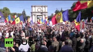 Marș la Chișinău, la 98 de ani de la votarea unirii Basarabiei cu România
