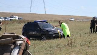 Mașină a Jandarmeriei, implicată într-un grav accident!