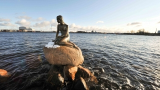 Mica Sirenă din Copenhaga, vandalizată în apărarea balenelor