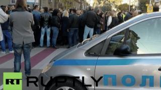 Mii de polițiști bulgari protestează și cer salarii mai mari și uniforme noi