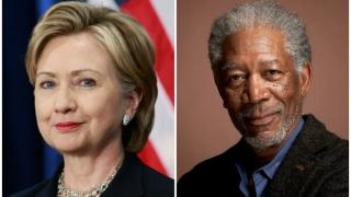 Morgan Freeman o sprijină pe Hillary Clinton