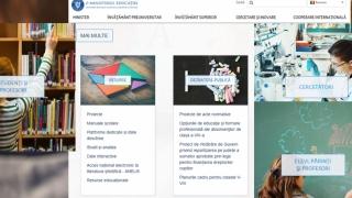 Noul site al Ministerului Educației, accesibil celor cu deficiențe de vedere