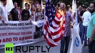 Obama, întâmpinat cu proteste în Grecia