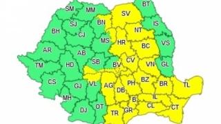 Cod GALBEN de furtună în Constanța și alte 21 de judeţe