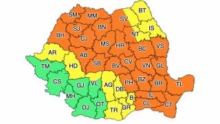 Cod portocaliu de ploi abundente în mai multe zone ale ţării