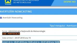 Alertă ANM: Cod portocaliu de ploi în județul Constanța