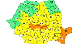 Un nou cod portocaliu de ploi abundente în Dobrogea