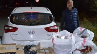 Flagrant la contrabandiștii de țigări. 3 persoane reținute în trafic