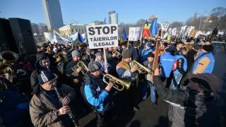 Pădurarii au protestat în Piața Victoriei! Iată ce nemulțumiri au!