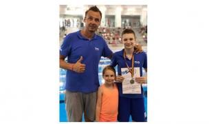 Patrick Dinu s-a numărat printre protagoniștii CN de înot pentru cadeți