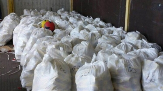 Peste 4.000 de mingi contrafăcute, confiscate în port