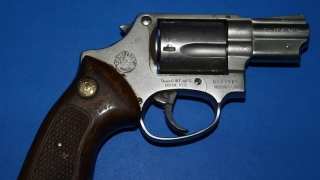 Pistol și cartușe descoperite de polițiști într-un container