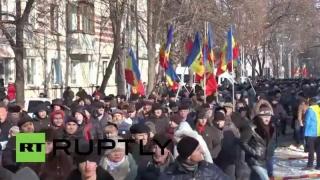 Protest al socialiștilor în fața Guvernului moldovean