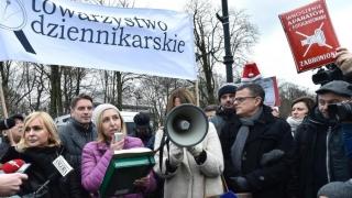 Proteste împotriva restricționării libertății presei în Polonia