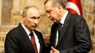 Putin şi Erdogan, întâlnire prietenească la Ankara