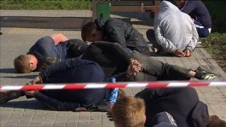 Război total într-un cimitir moscovit