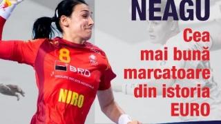 Handbalista Cristina Neagu, cea mai bună marcatoare din istoria Campionatelor Europene