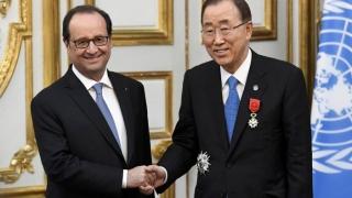 Secretarul general al ONU, decorat cu Legiunea de Onoare a Franţei