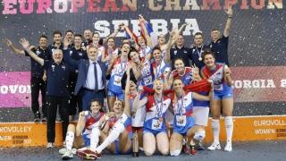 Serbia a cucerit titlul european la volei feminin