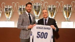 Sergio Ramos, omagiat la meciul său cu numărul 500 pentru Real Madrid