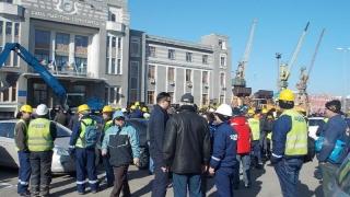 Sindicaliștii din port au întâmpinat primăvara cu un nou protest