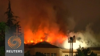 Spital din Ankara, în flăcări
