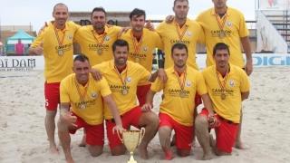 Start în Campionatul Național de fotbal pe plajă