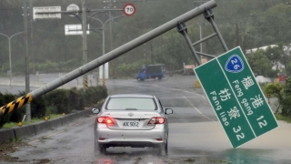 Taifun în Taiwan