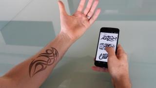 Tatuaj electronic pentru supravegherea stării de sănătate