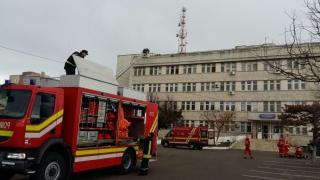EXERCIȚIU! Incendiu la Spitalul Clinic CF Constanța