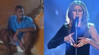 Un tânăr din Gabon, făcut celebru de Celine Dion