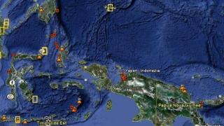 Cutremur de suprafaţă cu intensitatea de 6,8 de grade, în centrul Indoneziei