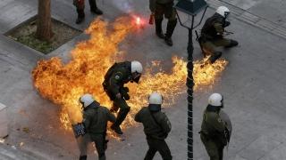Violențe la Atena