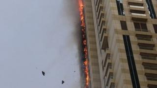 Zgârie-nori din Dubai în flăcări