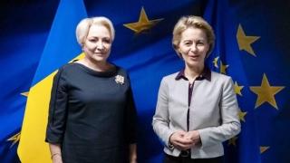 Dăncilă a discutat cu Ursula von der Leyen despre viitorul comisar european român
