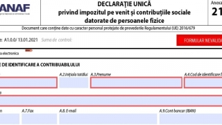Termenul limită pentru depunerea Declaraţiei unice este 25 mai