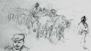 Ultimele schițe și desene ale lui Nicolae Grigorescu, expuse pentru prima dată