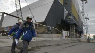 Dom gigantic din oțel, sarcofag pentru reactorul de la Cernobîl