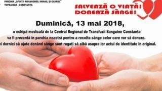 Donare de sânge la parohia Topraisar