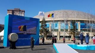 Drapelul României a fost arborat în Satul Olimpic la PyeongChang