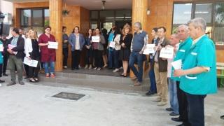 Noi proteste din cauza Legii salarizării. Angajați au DSVSA au întrerupt lucrul