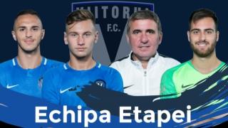 Trei jucători de la Viitorul şi antrenorul Gheorghe Hagi, în echipa etapei a 10-a din play-off şi play-out