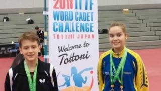 Constănţeanca Elena Zaharia, două medalii la World Cadet Challenge Cup la tenis de masă