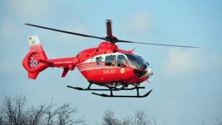 Elicopterul SMURD, solicitat pentru o fetiță care a suferit arsuri
