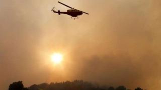 Elicopter prăbușit în timp ce participa la stingerea unor incendii de pădure