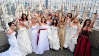 Valentine's Day: unsprezece cupluri s-au căsătorit pe Empire State Building